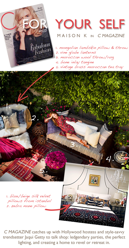 global decor from maison k featured in c magazine
