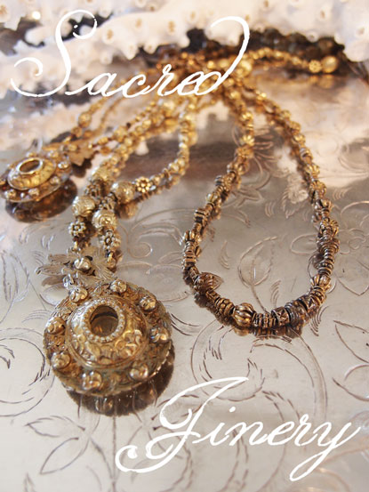 antique necklace from manila at maison k