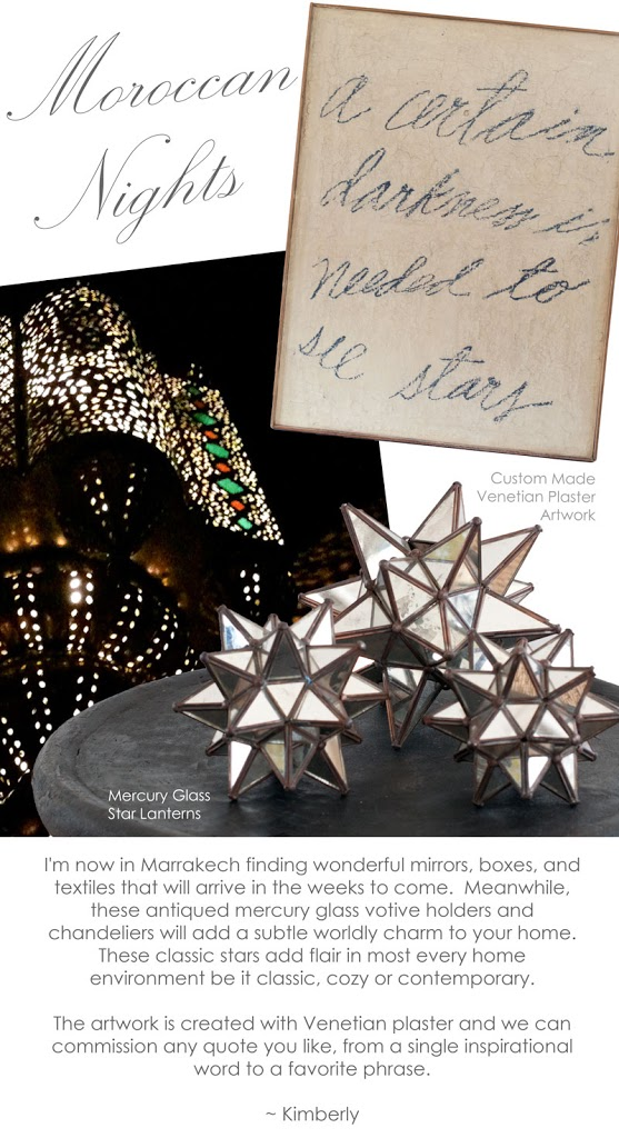 moroccan star lights at maison k