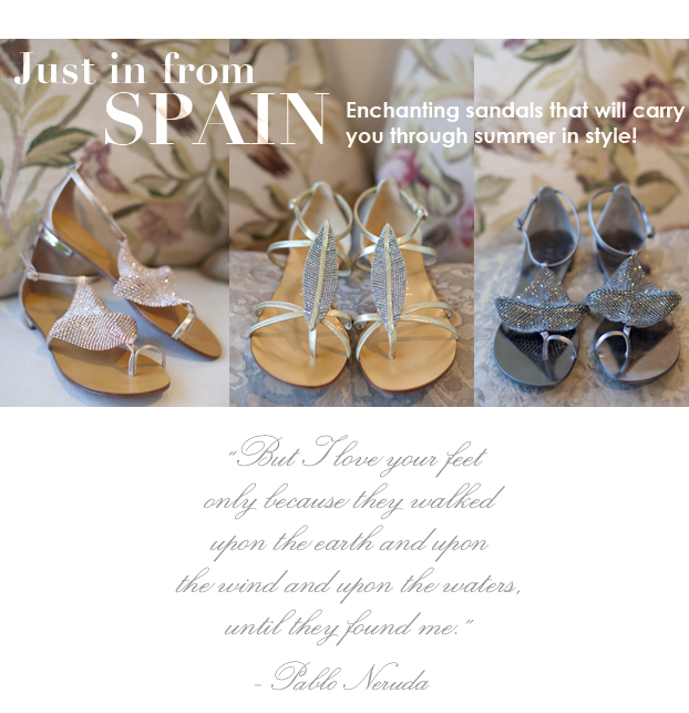 sandals from spain at maison k, montecito, ca