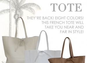 Our Riviera Tote is Back!