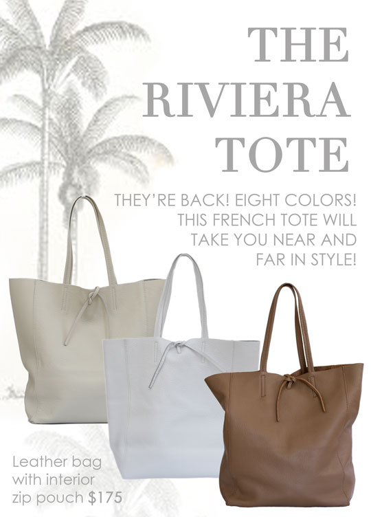 riviera tote is back at maison k