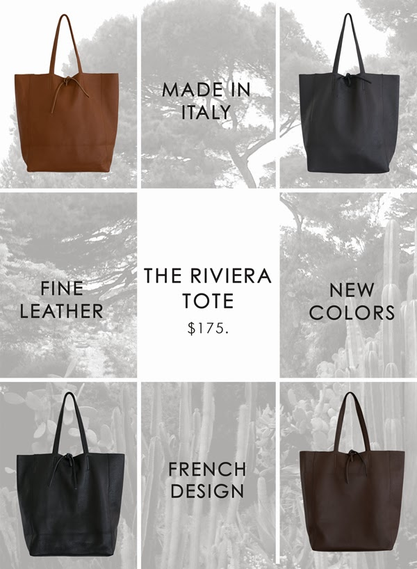 Riviera Tote in new colors at MAISON K