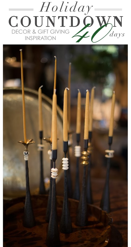 wrought iron candlesticks at maison k