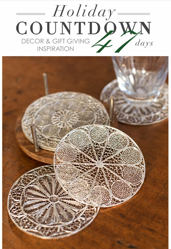 silver plated filigree coasters at maison k