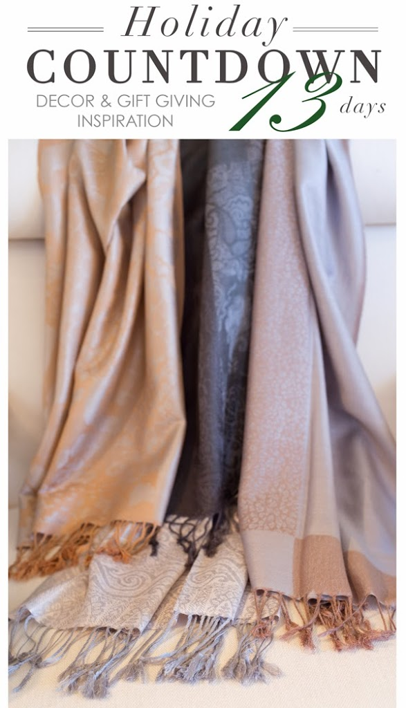 jacquard scarves from maison k for the holidays