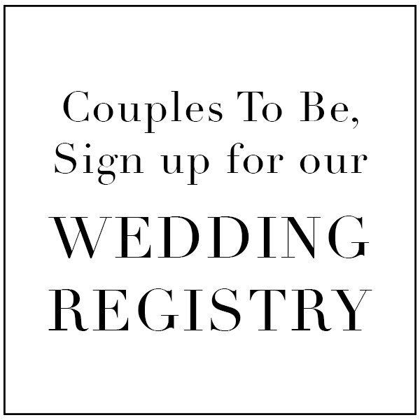 sign up for maison k's wedding registry