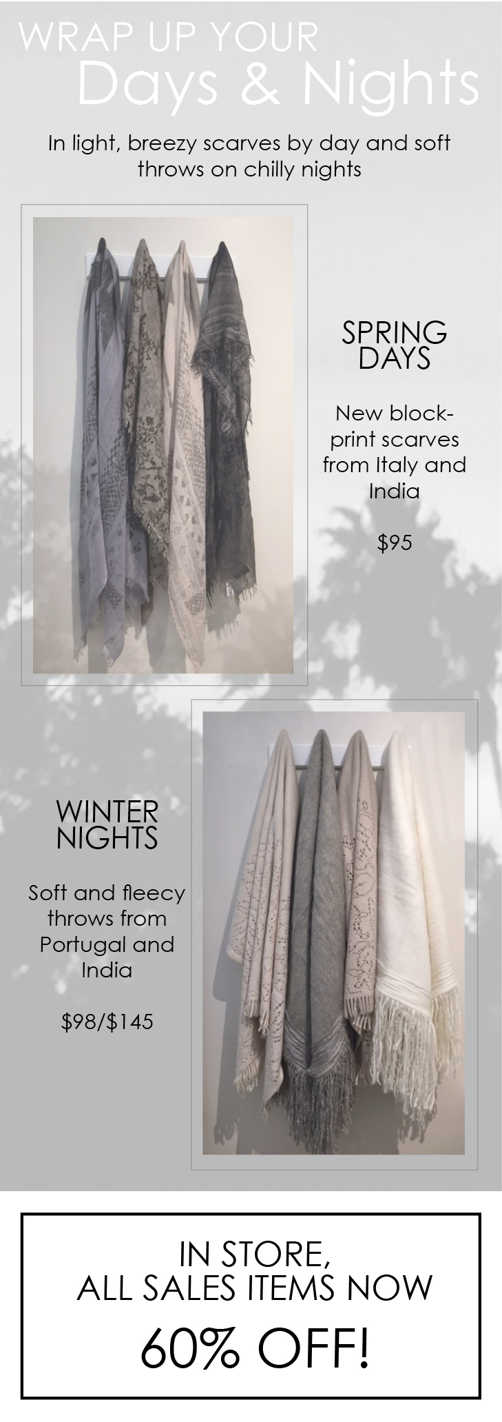lightweight scarves at maison k