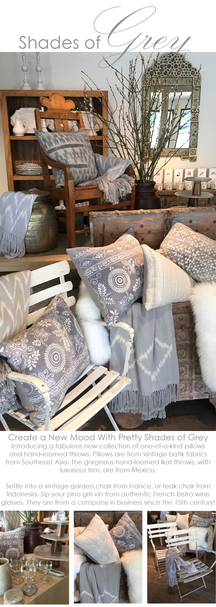 shades of grey  home decor