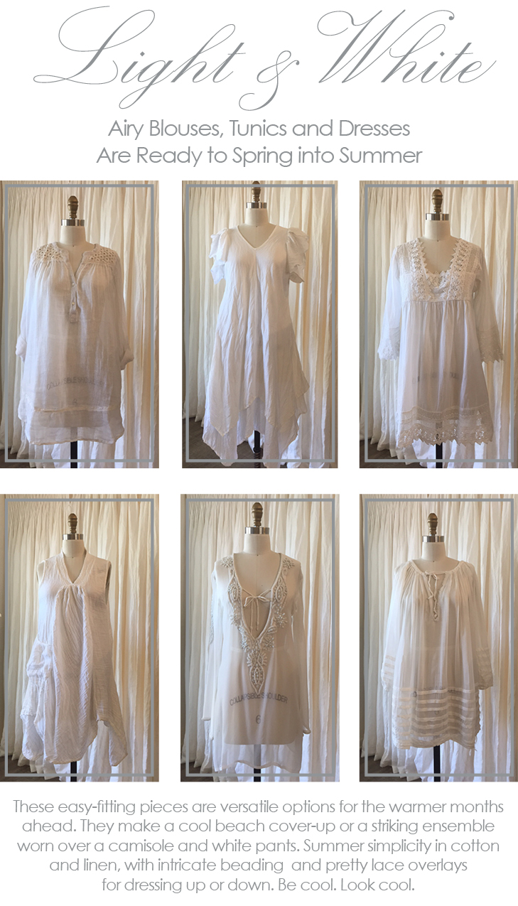 linen and cotton summer dresses at maison k