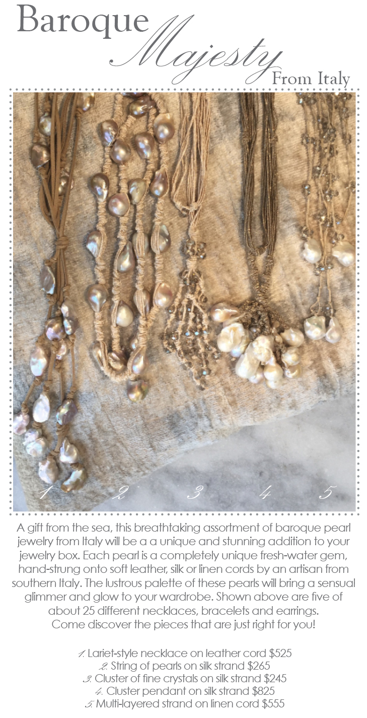 Baroque majesty baroque pearls from italy