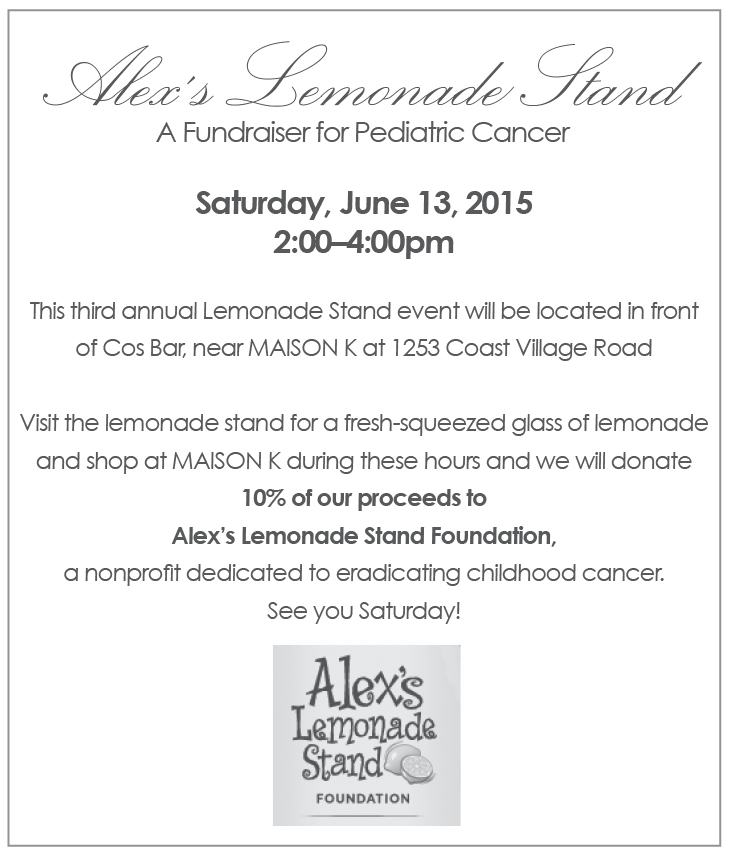alex's lemonade stand june 13, 2015 at maison k
