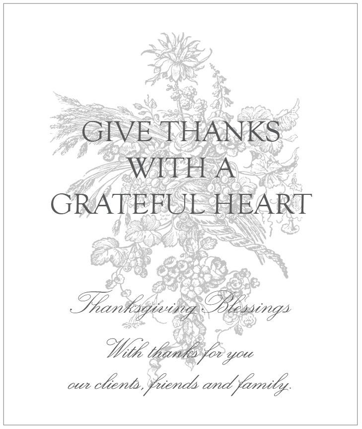 Happy Thanksiving From MAISON K