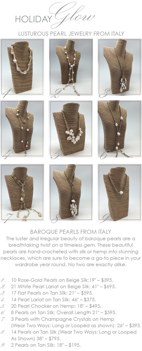 baroque pearls from italy at maison k