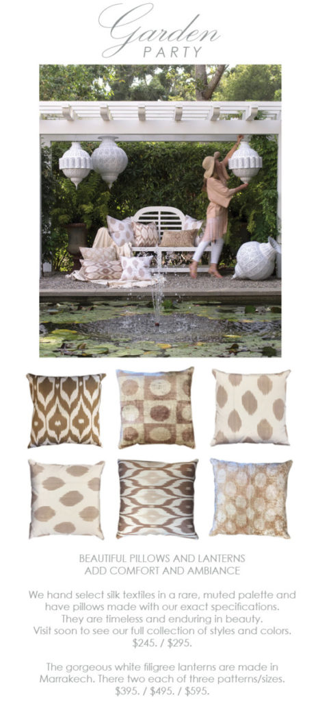 silk ikat pillows at maison k